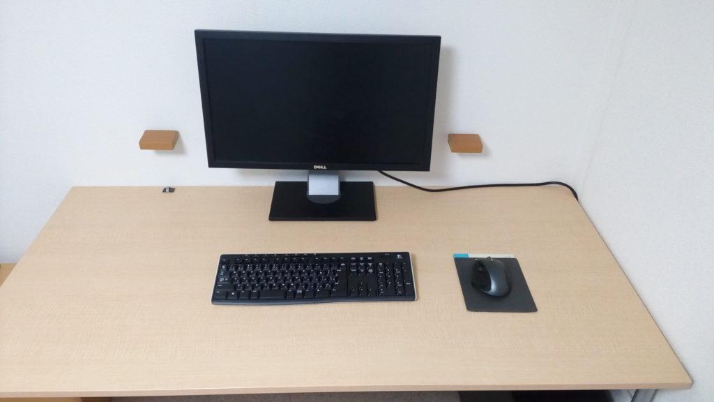 広いパソコンデスク