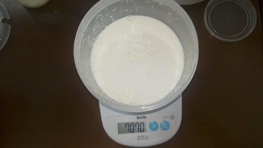 ヨーグルトメーカー 牛乳