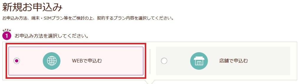イオンモバイルweb申込み
