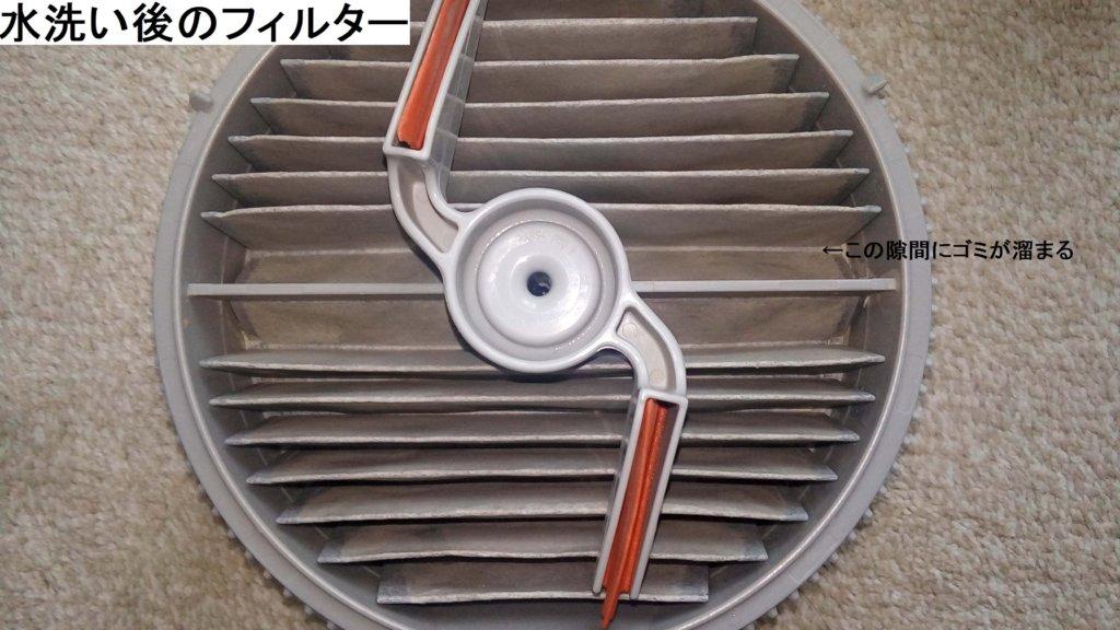 サイクロ掃除機 フィルター 水洗い