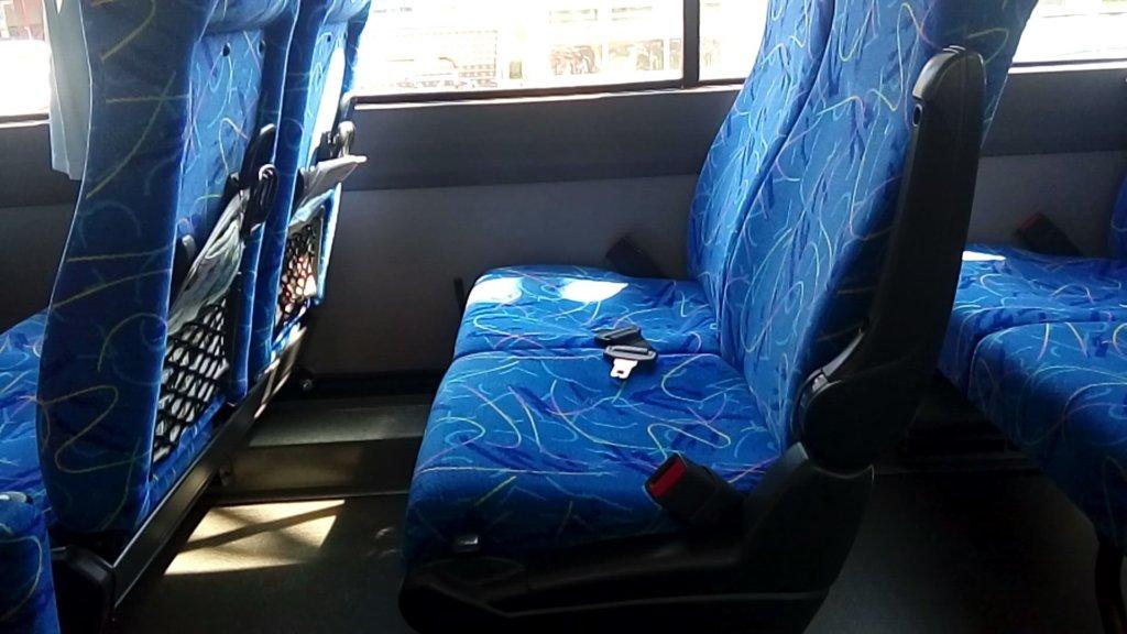 定山渓 ふる川 バス車内