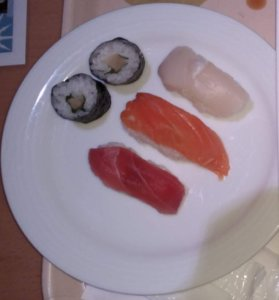 定山渓万世閣ホテルミリオーネの夕食 寿司