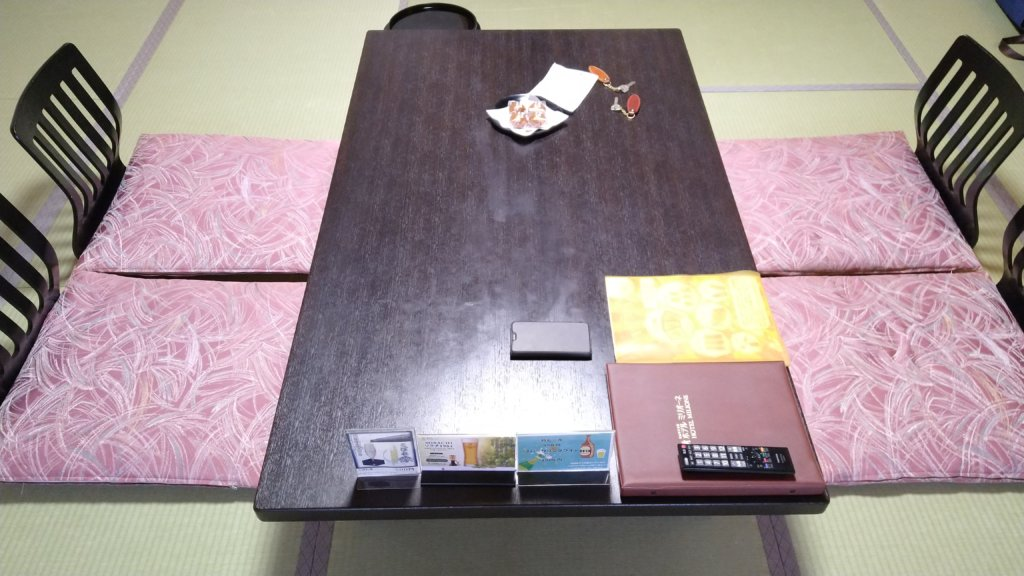 定山渓万世閣ホテルミリオーネ テーブル