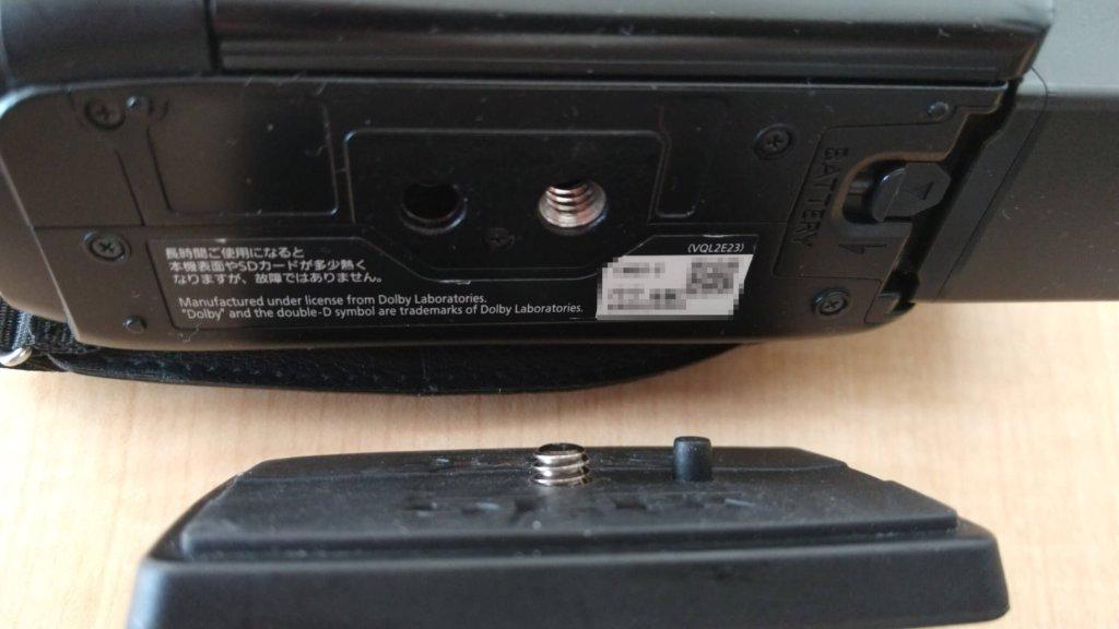SLIK GX6400 クイックシュー ビデオカメラ取り付け