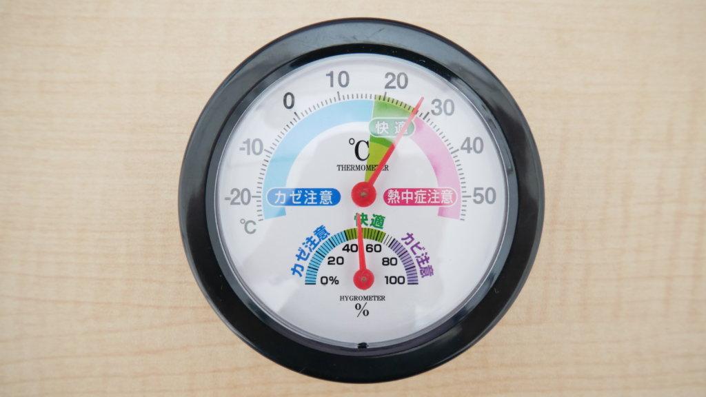 ミラーレス一眼 100円ショップ 湿度計