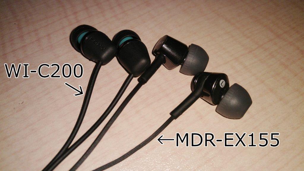 SONY WI-C200 SONY MDR-EX155 比較