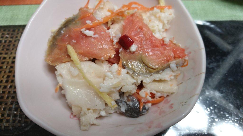 2020年12月末 鮭の飯寿司