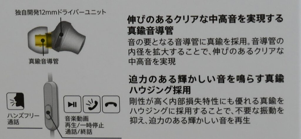 SONY MDR-EX650AP パッケージ